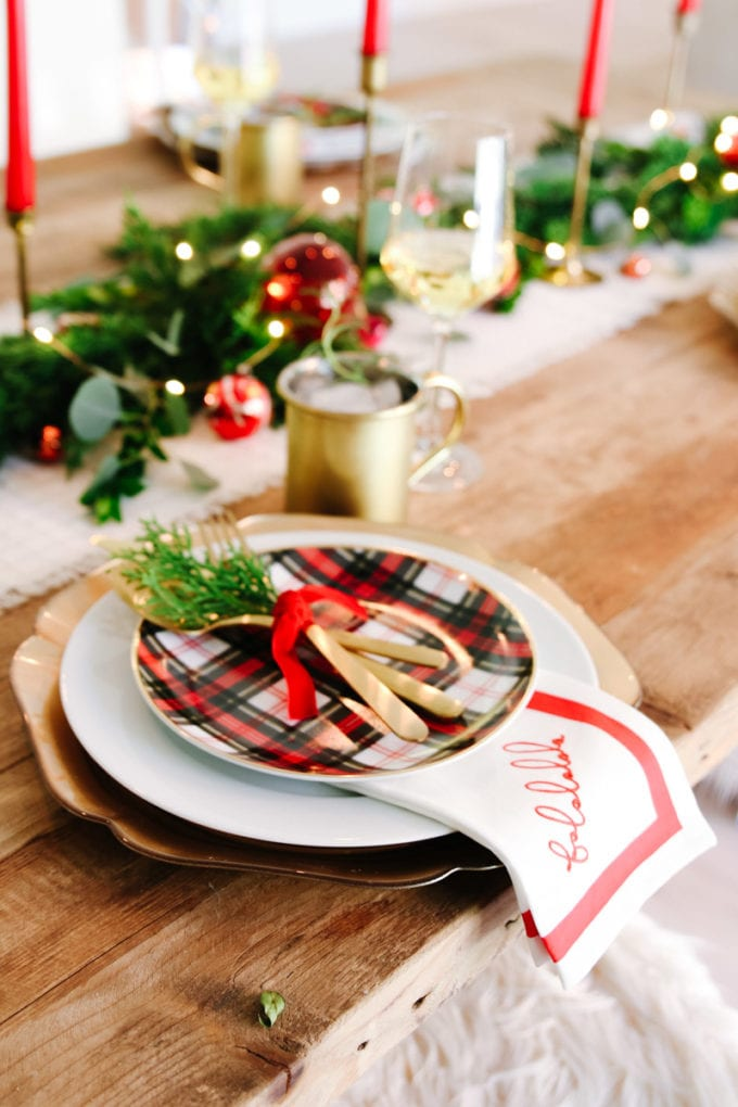 vintage modern holiday table