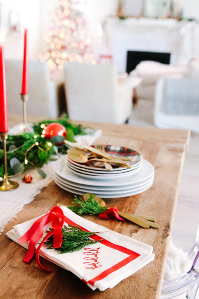 vintage modern christmas table