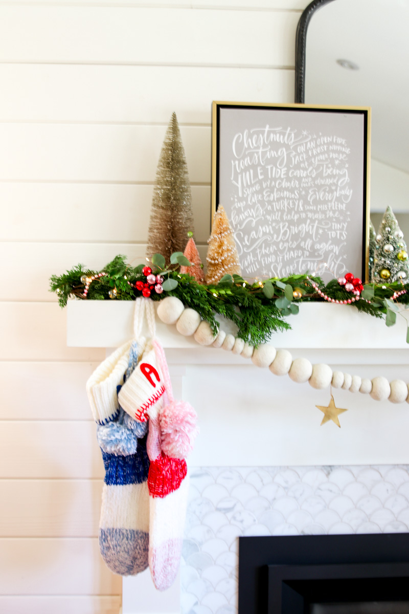 modern holiday mantel decor
