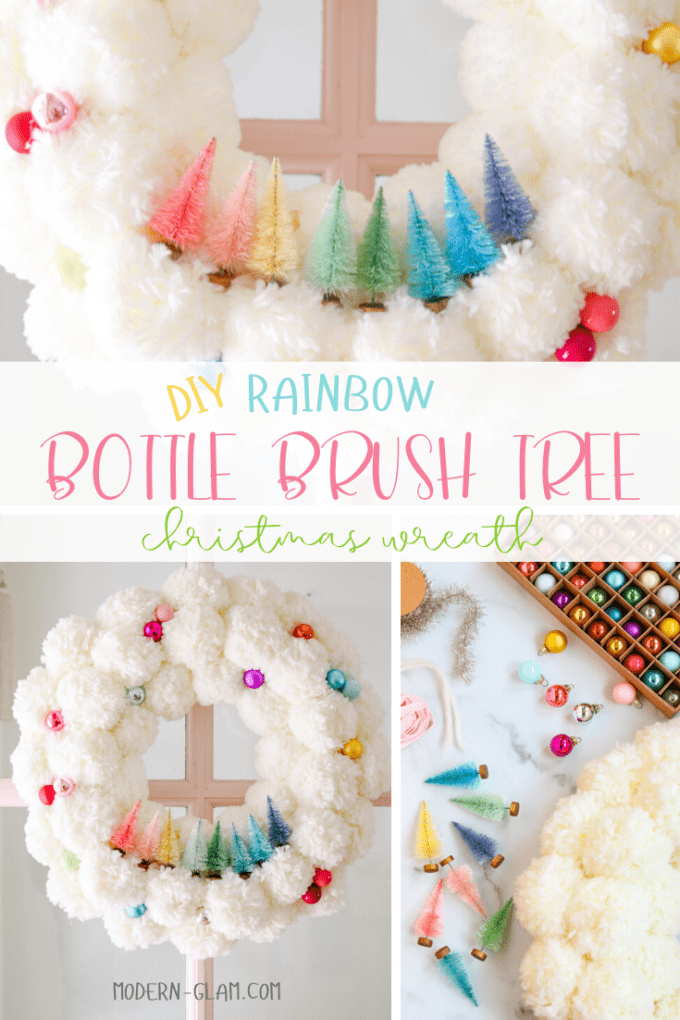 diy rainbow wreath