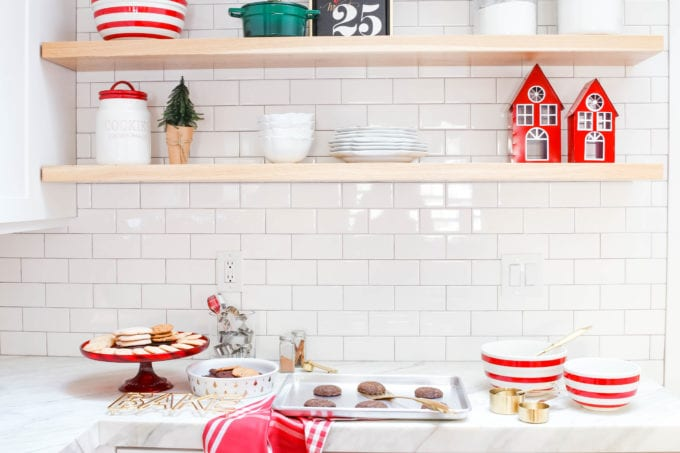 modern farmhouse christmas in the kitchen