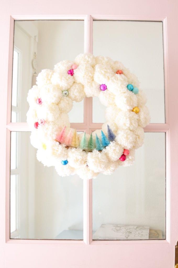 fun and colorful winter wreath