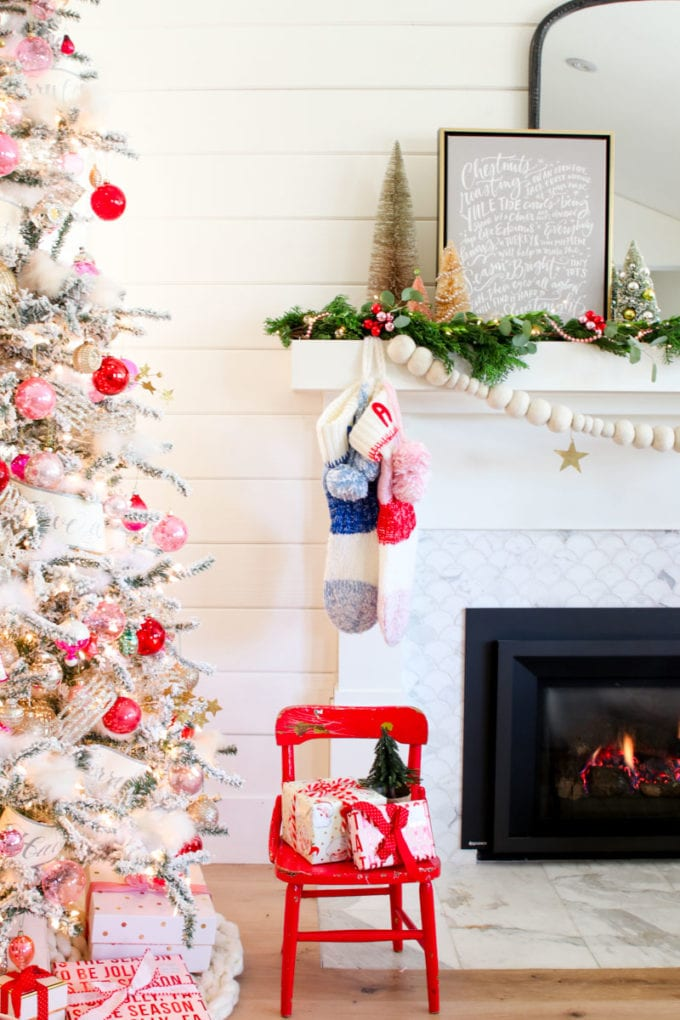 My Modern Holiday Mantel with a Vintage Twist - Modern Glam