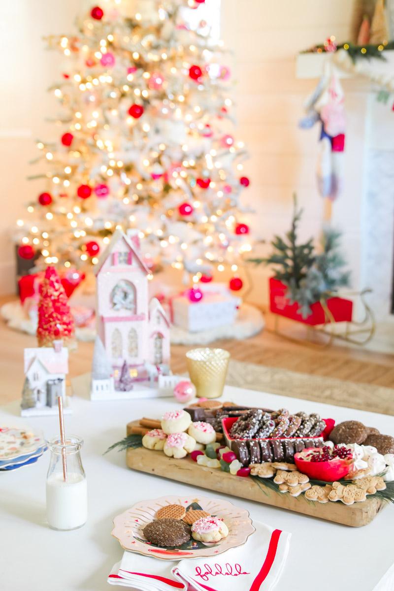 sweet christmas charcuterie board