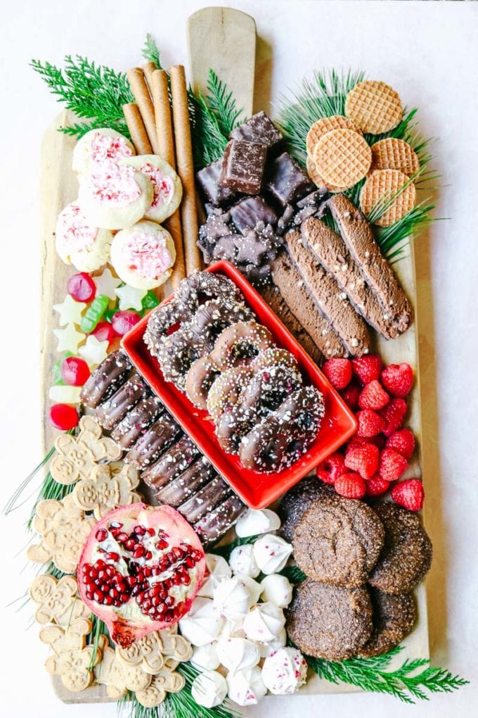 how to make a charcuterie board with desserts