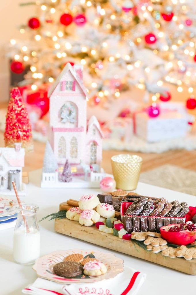 christmas cookie dessert platter