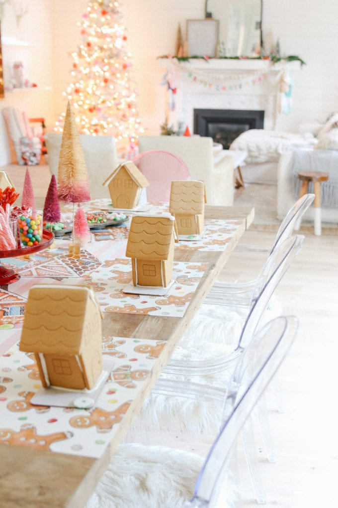 gingerbread house decorating party for kids