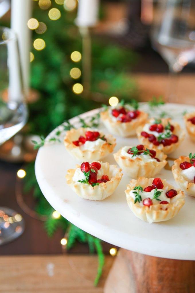 Easy Holiday Appetizer Baked Goat Cheese Bites Modern Glam,Upper Corner Kitchen Cabinet Storage Ideas