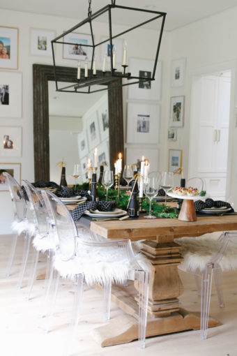 elegant new year's table