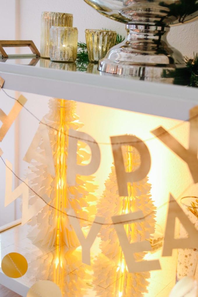 festive bar cart decor