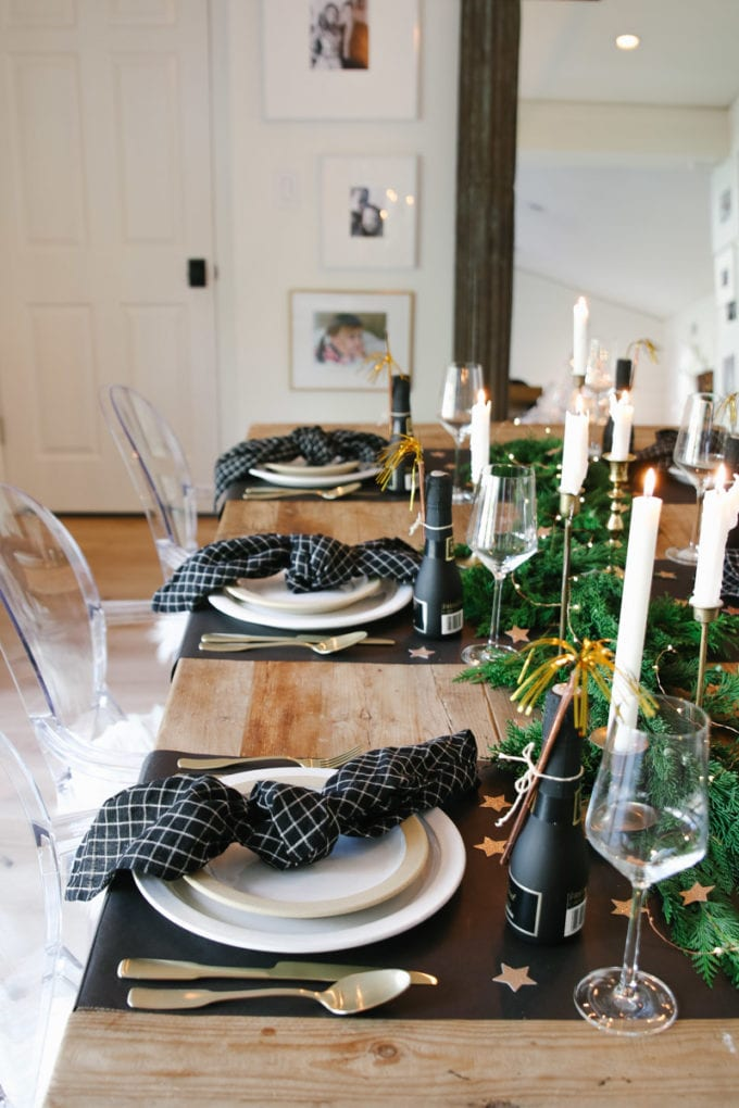 New Year's Eve tablescape