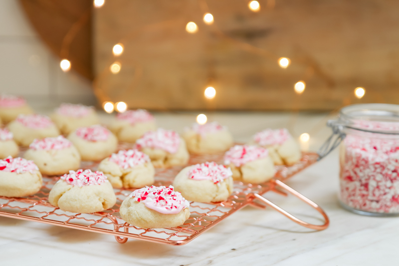 candy cane thumbprints