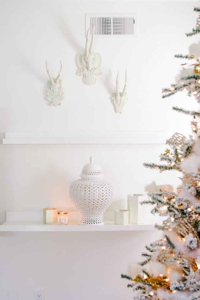 winter white decorating after christmas