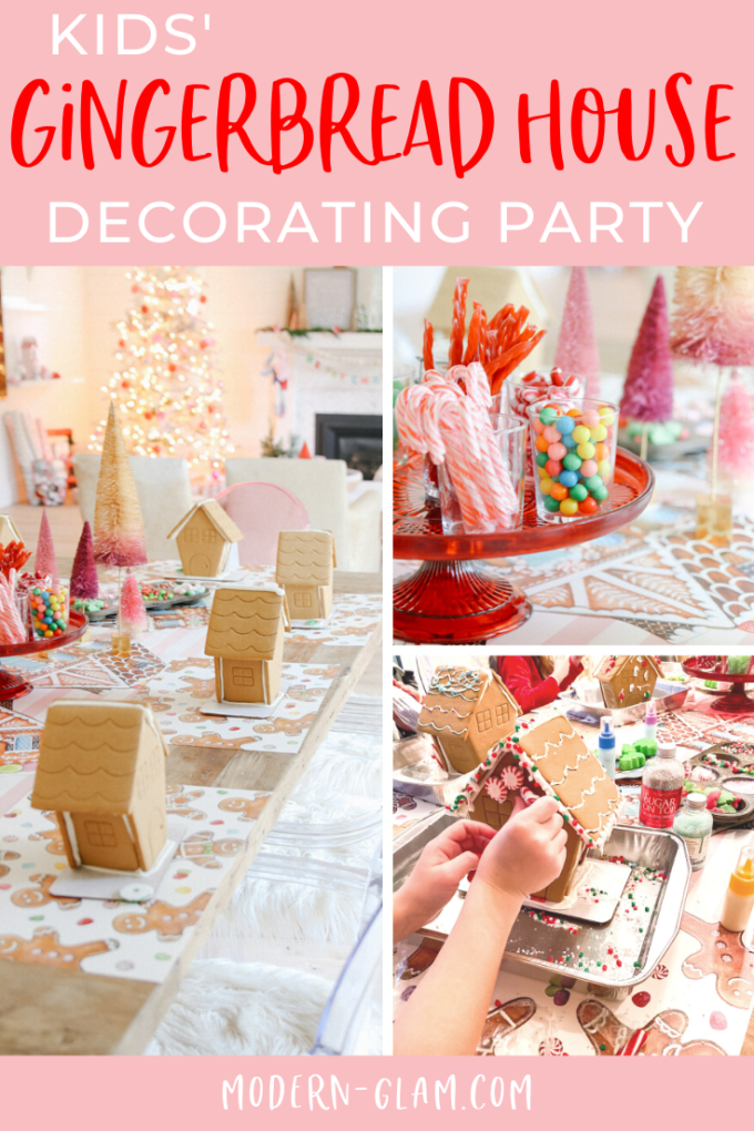 kids' gingerbread house decorating party