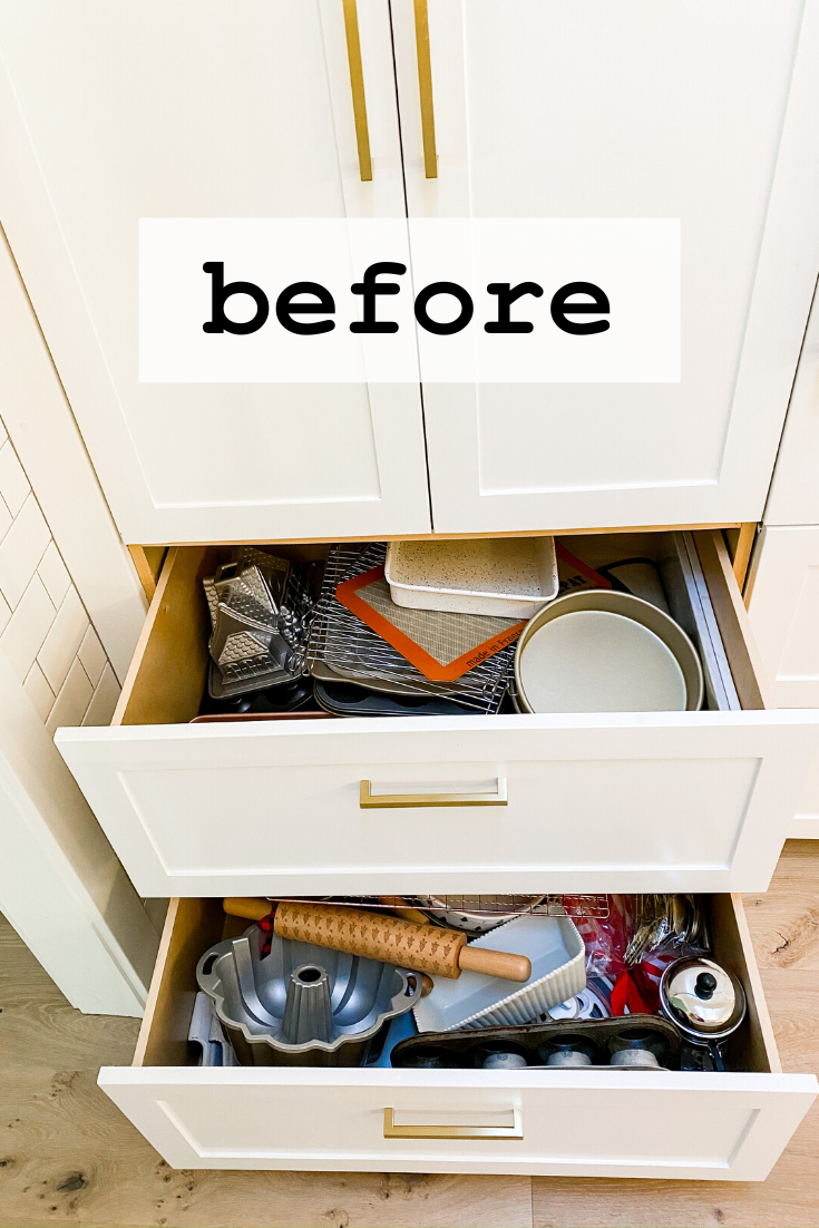 How To Organize Kitchen Drawers - Modern Glam - Interiors