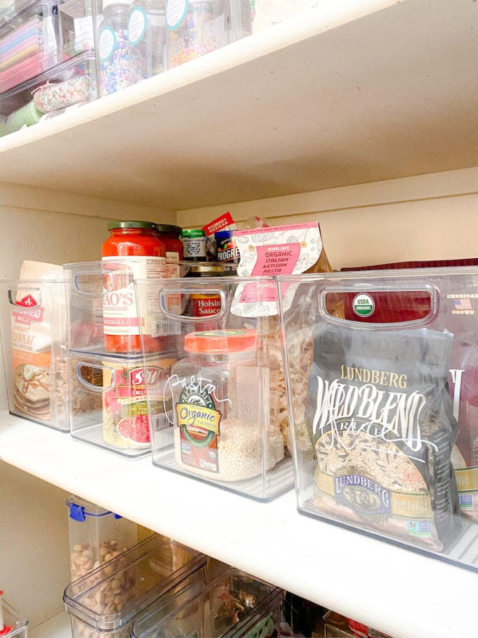 how to organize pantry items