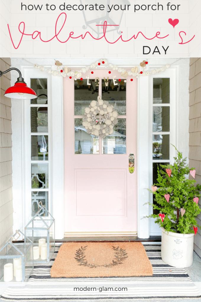 simple valentine's day porch decor