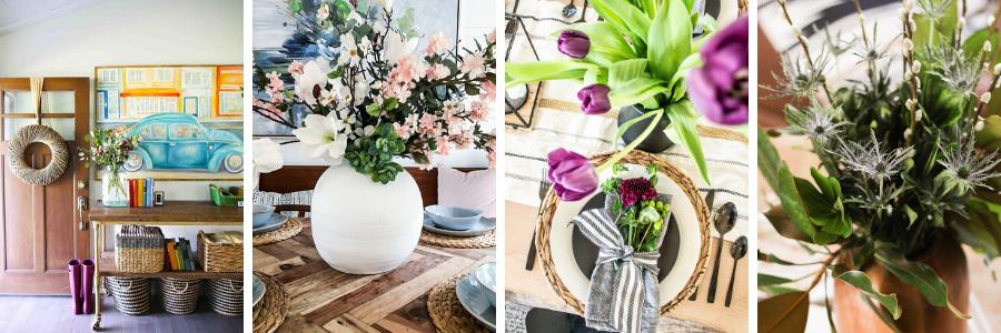 Vintage Crock Spring Floral Arrangements