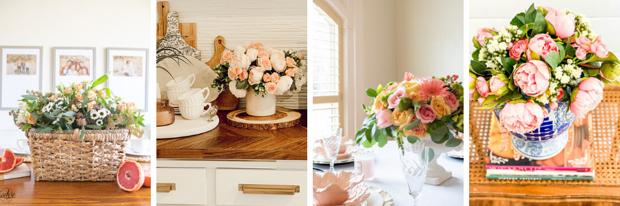 3 Ways To Style A Faux Flower Arrangement The Tattered Pew