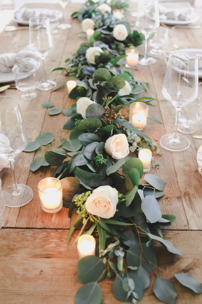 how to make a spring table garland