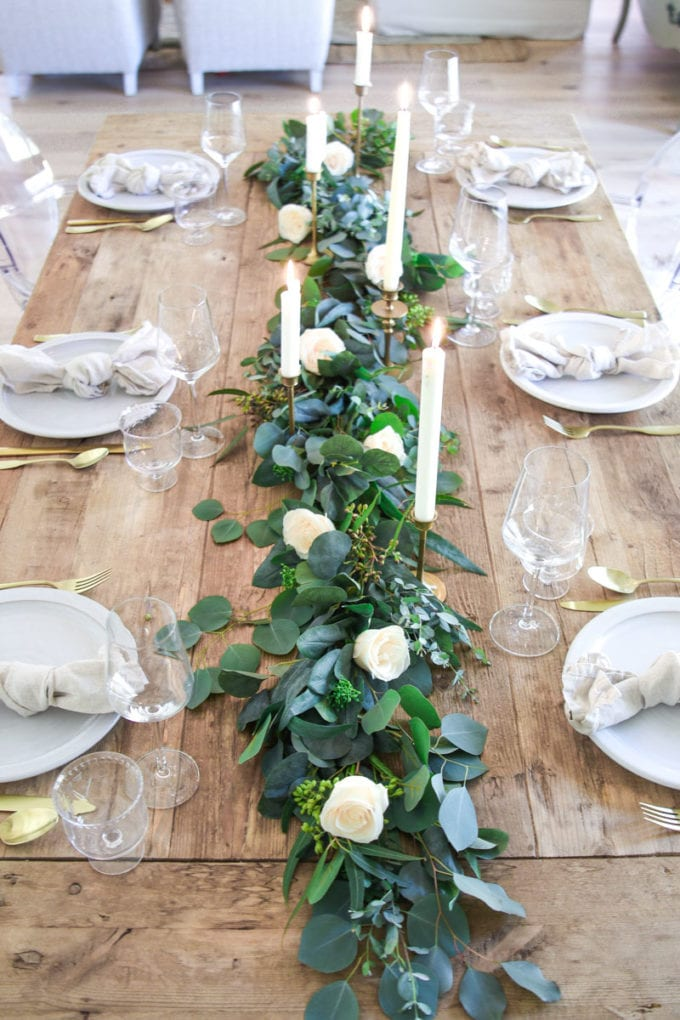 romantic spring table