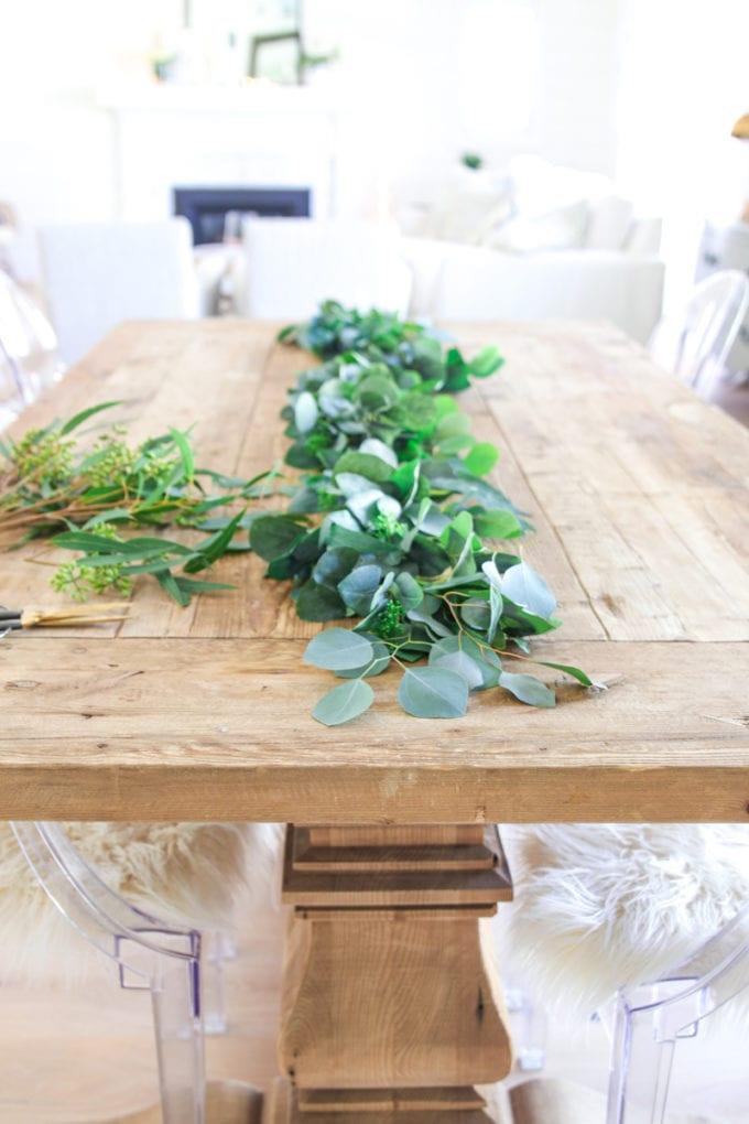 faux eucalyptus garland hack