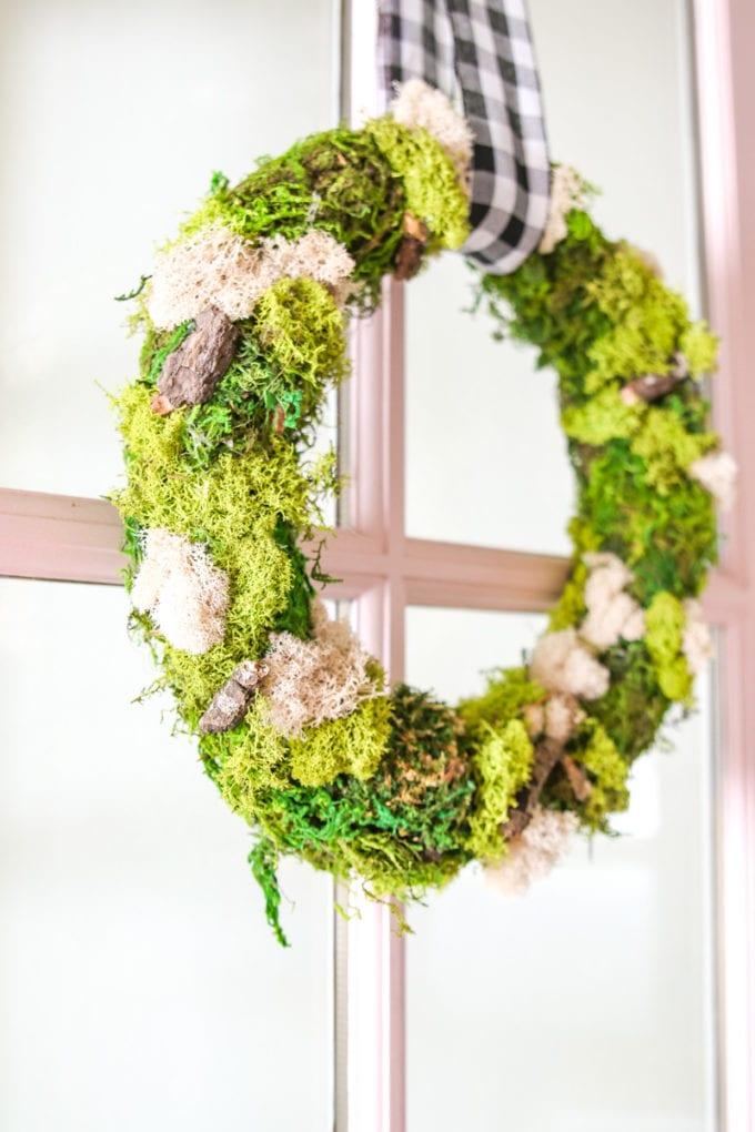 Modern Spring Wreath tutorial