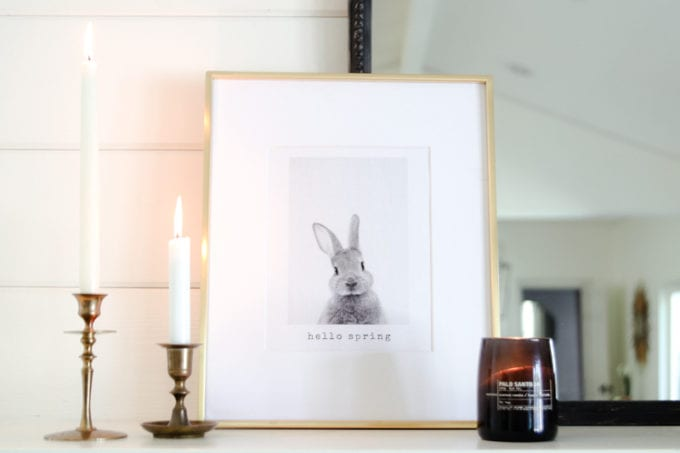 free bunny printable art