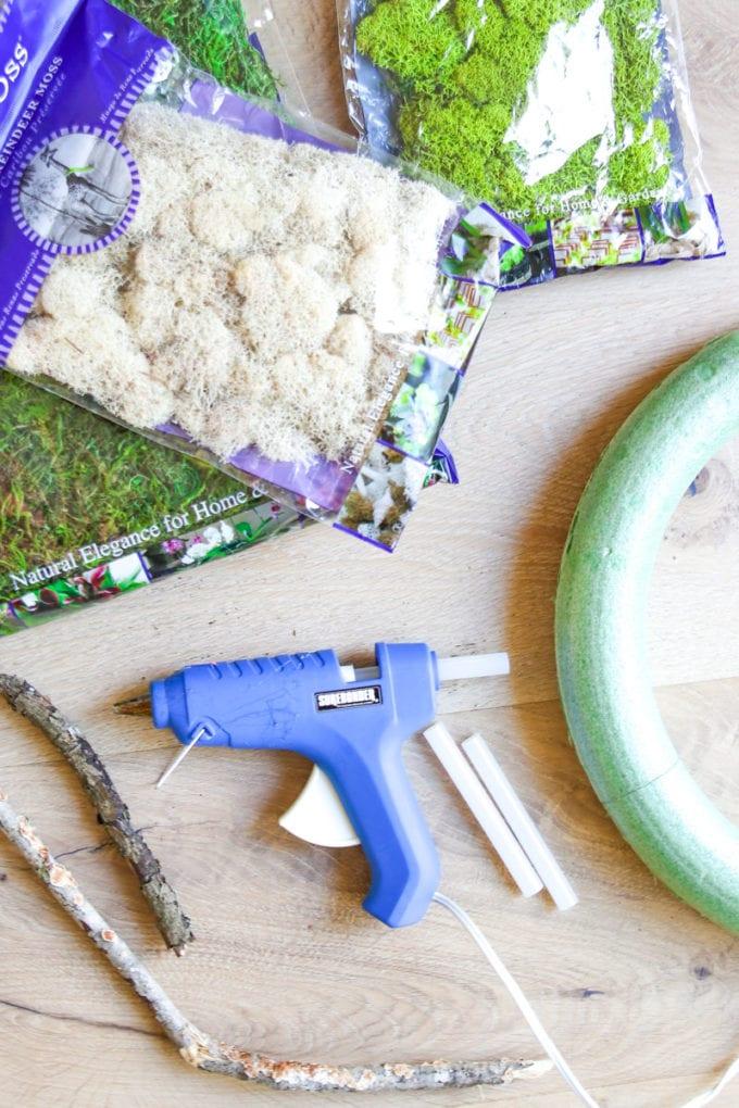 moss wreath supplies