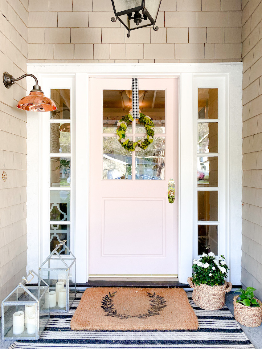 simple spring front door decor