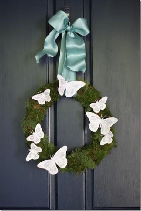 diy moss wreath for spring