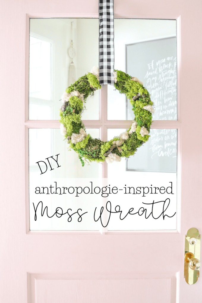 how to make a moss wreath