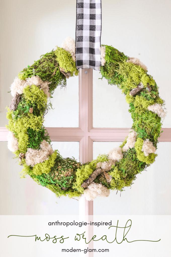 anthropologie-inspired moss wreath DIY idea