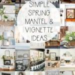 spring mantel ideas