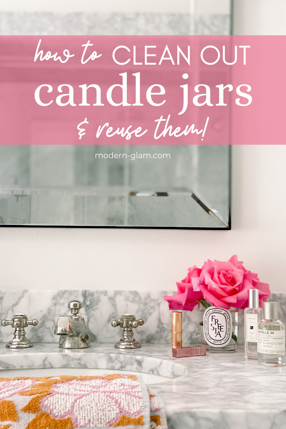 how to clean out candle jars and reuse them