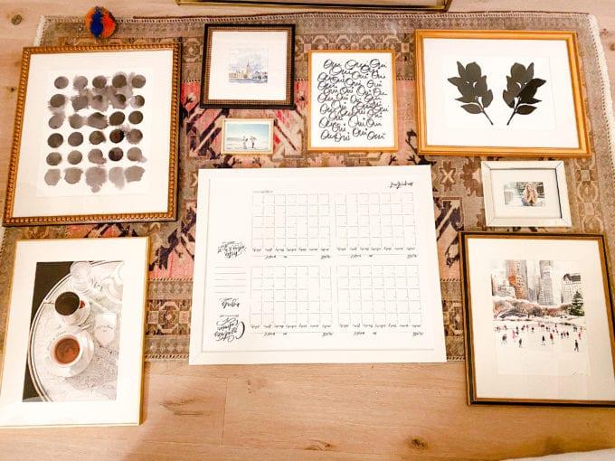 how to plan art arrangement