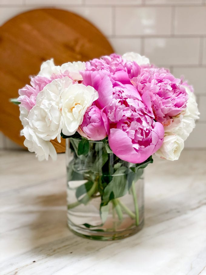 peony flower arranging tips