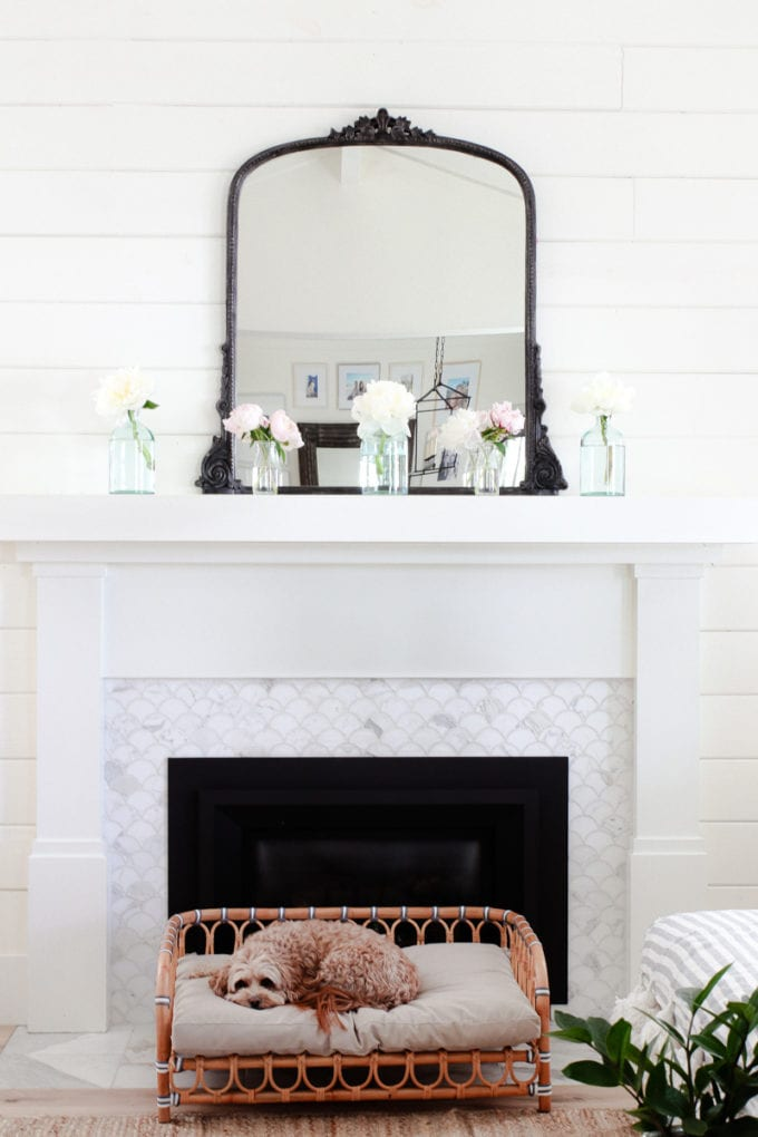 how to decorate your fireplace for summer