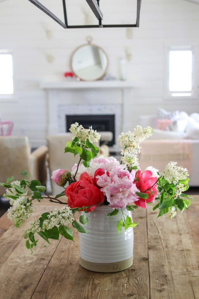 how to make a peony arrangement