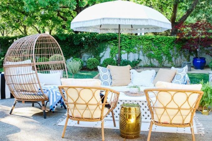 backyard patio and garden tour