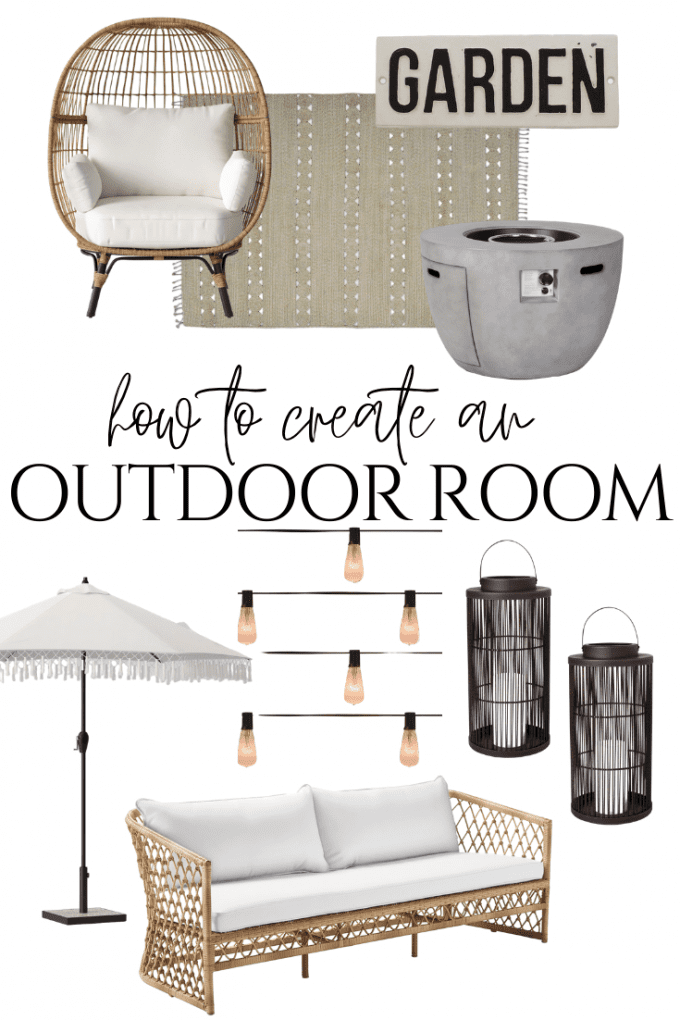how to make a cozy outdoor room