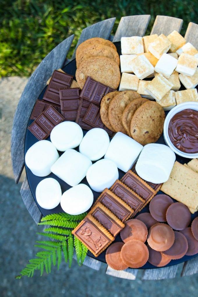s'mores dessert charcuterie board