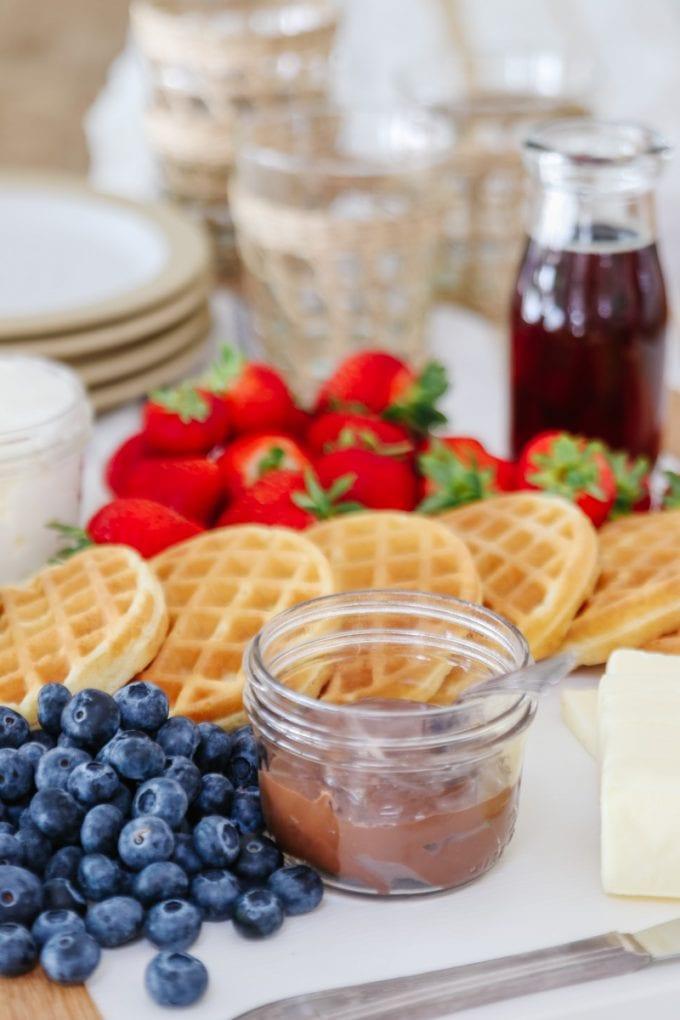 waffle brunch idea