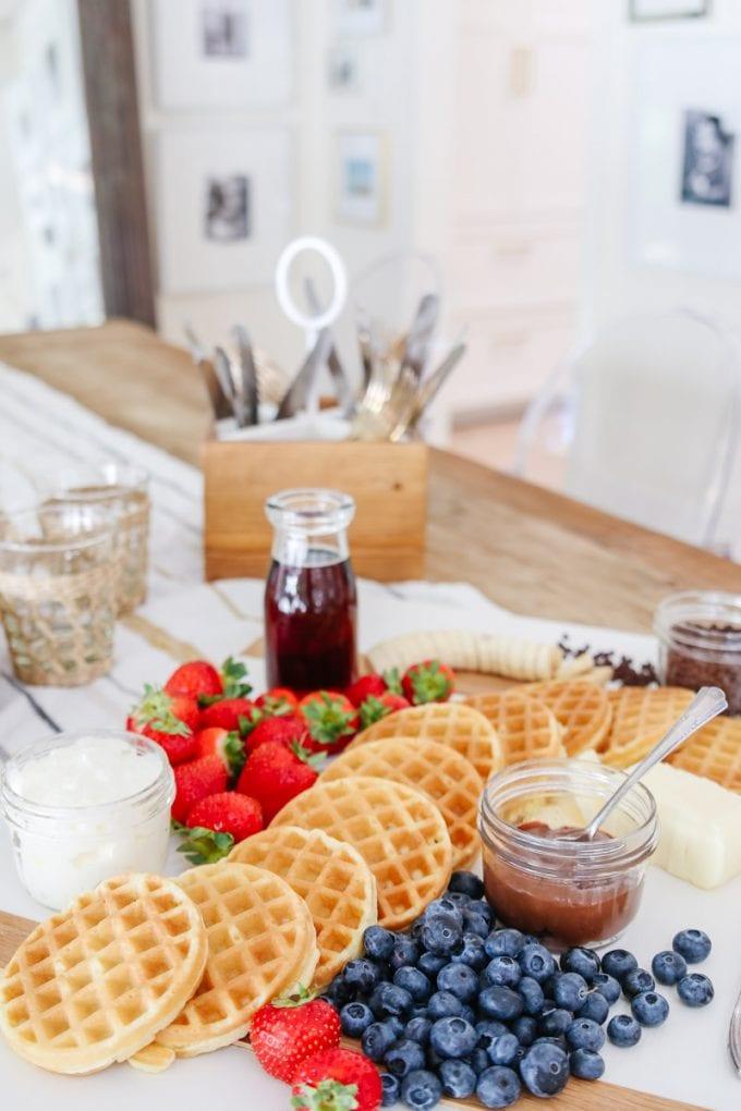 waffle brunch board
