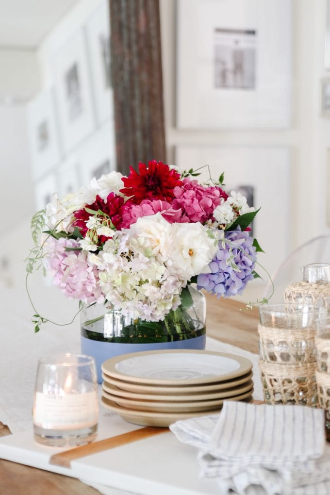 what flowers look good with hydrangeas