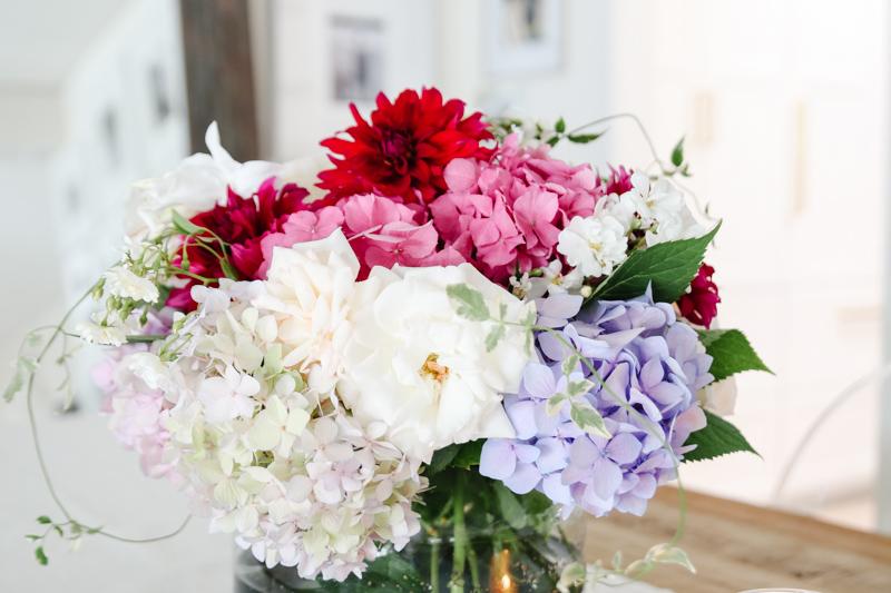 rustic summer flower arrangement