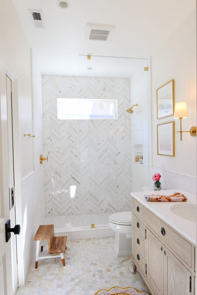Marble Bathroom Remodel Reveal Modern Glam