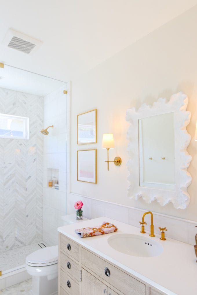 marble bathroom remodel reveal modern