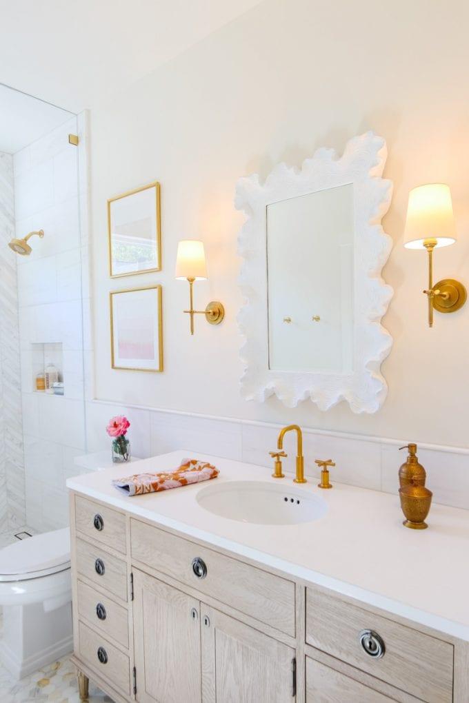 Marble Bathroom Remodel Reveal Modern Glam
