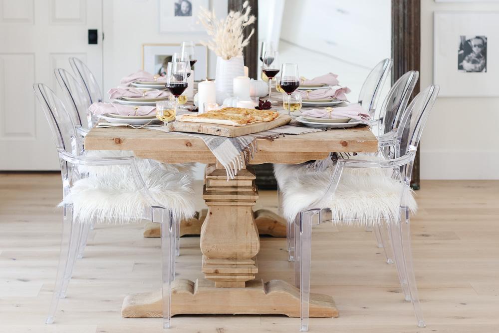 cozy fall table idea